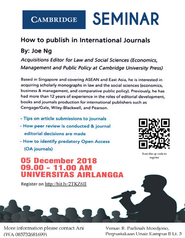 How to Publish an International Journal